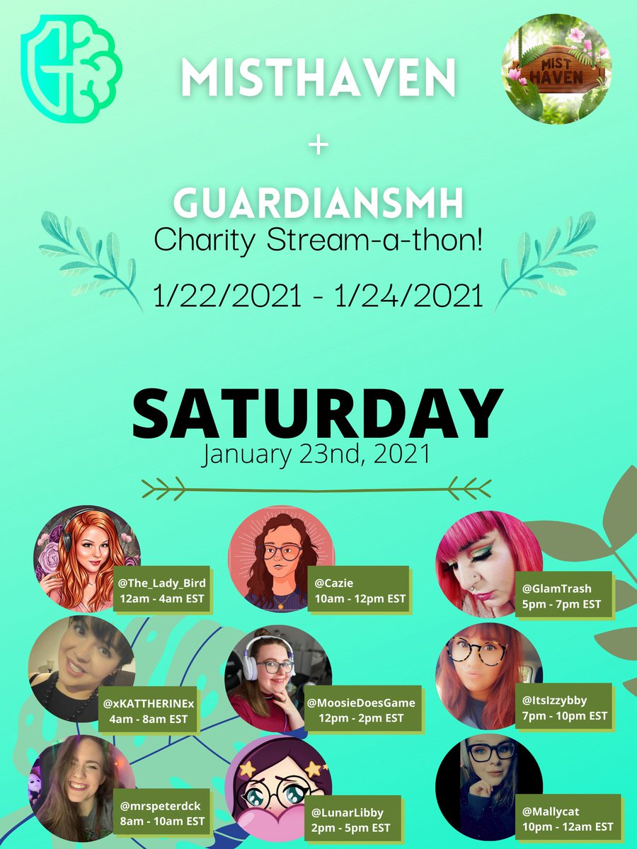 It's happening!  Come hang out on Wednesday, Friday AND Saturday to support the Cause! GuardiansMH is an amazing organization that benefits the mental health community AND the gaming community! Feel free to retweet. <3 #twitchaffiliate #Guardiansmh #MentalHealthMatters #charity