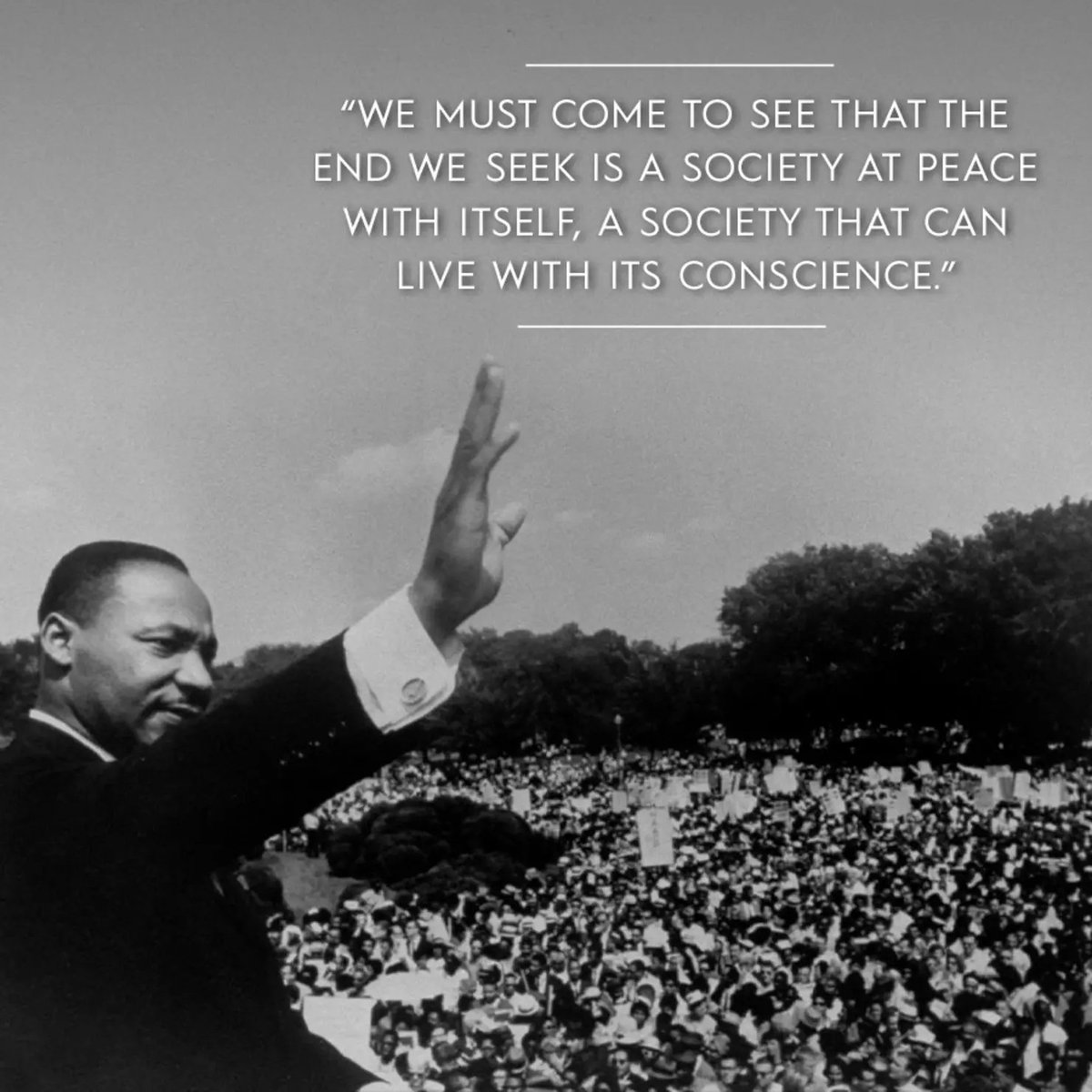 I'm always amazed by all MLK accomplished & the vision he set forth in his short life. How timely his words are today. We must continue to aspire to the greatness he saw in this country's potential and allow his words to guide us. He was our modern Founding Father. Happy MLK Day.