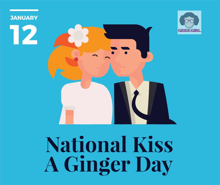 Kiss a Ginger day was started in 2009 and celebrates the truly rare genetic makeup of beautiful redheads! Their fair skin and beautiful auburn hair makes them some of the most attractive people on earth, with only 1-2% of the population sharing these traits! https://t.co/NftUmxWzqr