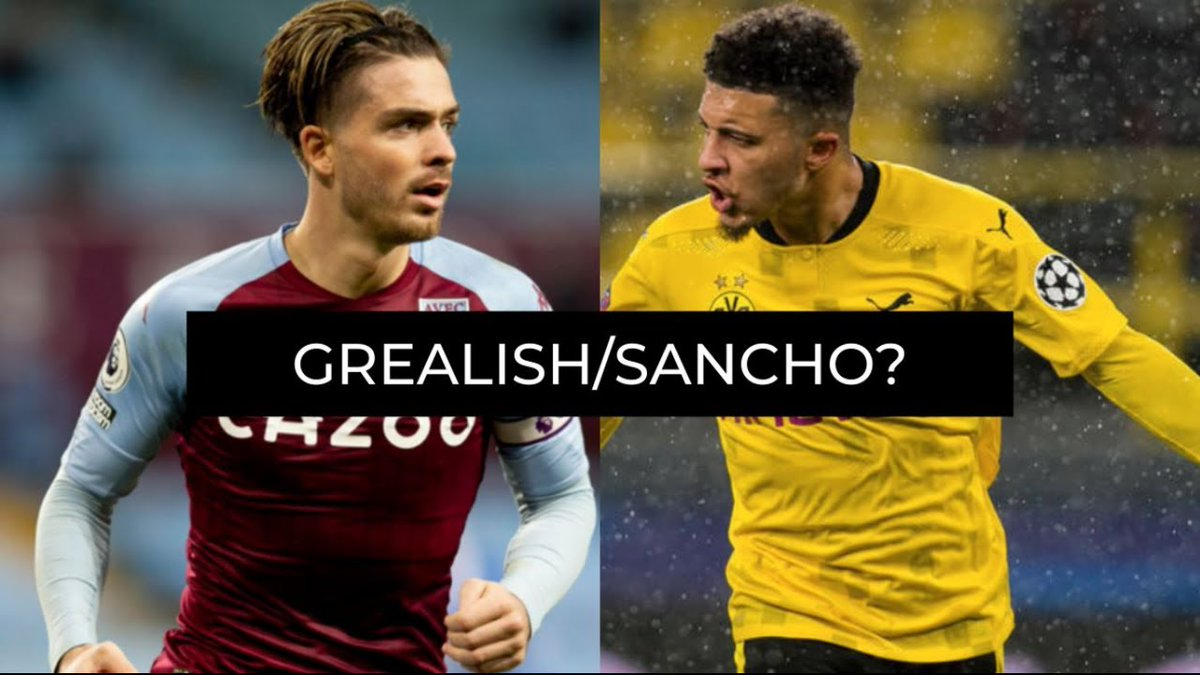 #Sancho #Grealish #MUFC  If you have to chose one player between Jack Grealish and Jadon Sancho, who would you choose? https://t.co/hIVYNyliMz https://t.co/myMBc7PRNp