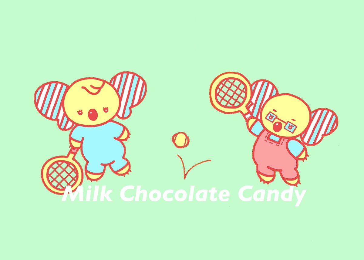 テニスを始めたばかり。妹のリリーと練習しています。  #illustration #イラスト #コアラ #コアラ家族 #koalas #テニス #tennis