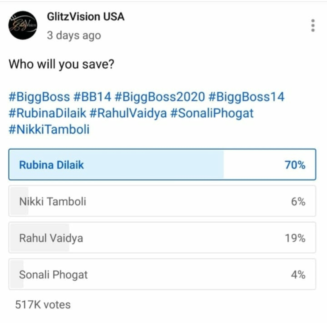 @sidkannan probably u do not know about the bot mafia of Rahool vaidya in twitter polls. Just see these ss to get an idea of who is ruling BB14 and who s audience fav.. https://t.co/T3jUEI5Fph