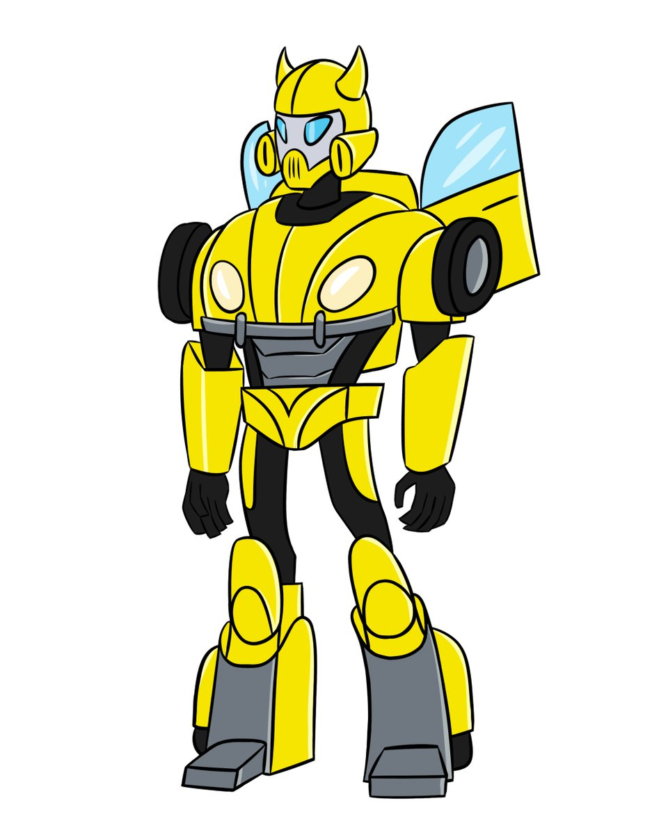 #Transformers I'd call this Buzzworthy. Bumblebee from the Knightverse movie and in Animated style