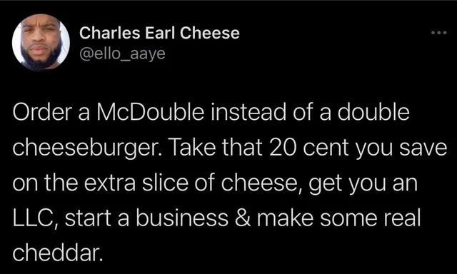 A true visionary. #hustler #ambition