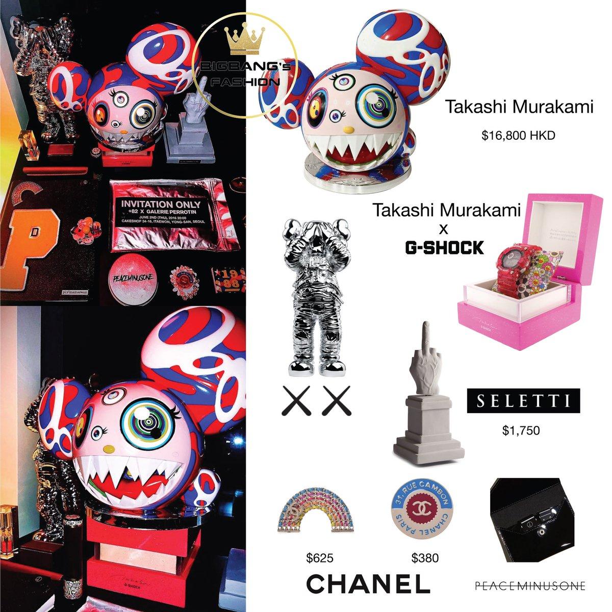 210119 xxxibgdrgn IG Update   ✨ #TakashiMurakami Melting DOB  ✨ #TakashiMurakami x #GShock Frogman watch  ✨ #Kaws Space  ✨ #Chanel brooch ✨ #Seletti L.O.V.E  ✨ #PEACEMINUSONE Slider clip  #GD #GDRAGON #BIGBANG #GDSTYLE