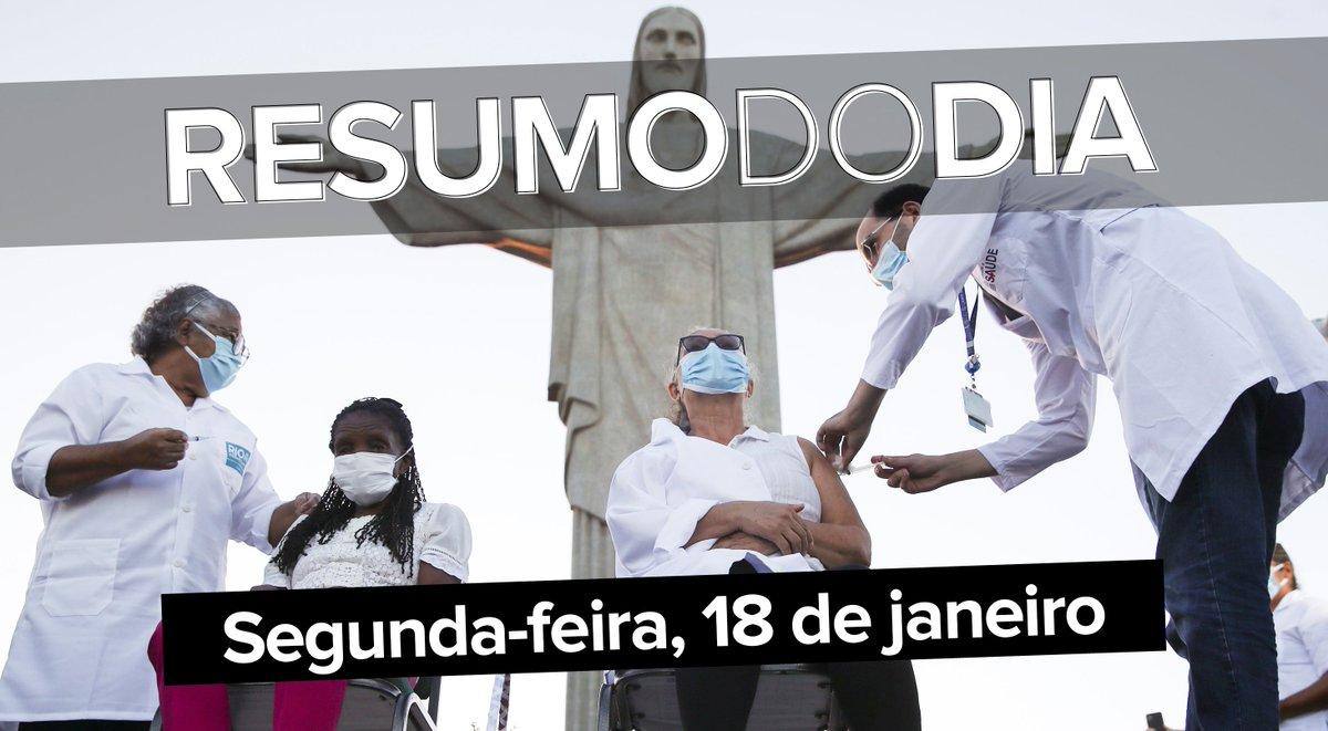 Os primeiros vacinados contra a Covid-19 em todo o país, Pazuello muda tom sobre 'tratamento precoce' contra a doença, documento mostra que governo sabia 10 dias antes do colapso da Saúde no Amazonas, e mais ==>  #G1 #ResumoDoDia