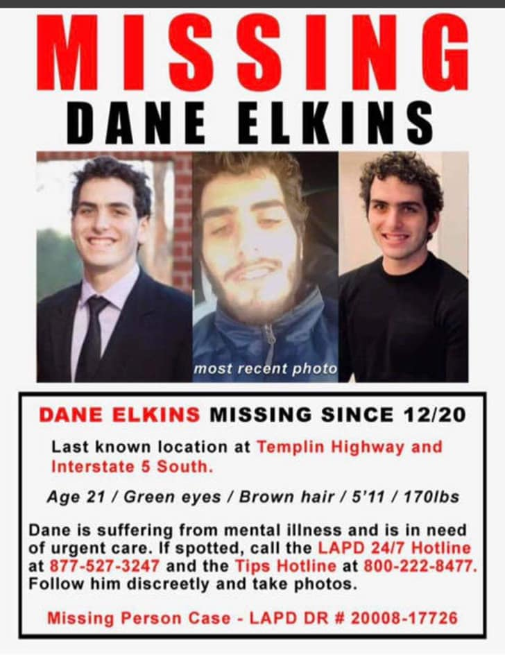 A family my niece knows is searching for their son in California.   His mom Deborah @momof4vegankids is the Bagel Mom who gets food that would otherwise go to waste to the hungry.  Please re-tweet so we get get #DaneElkins home.