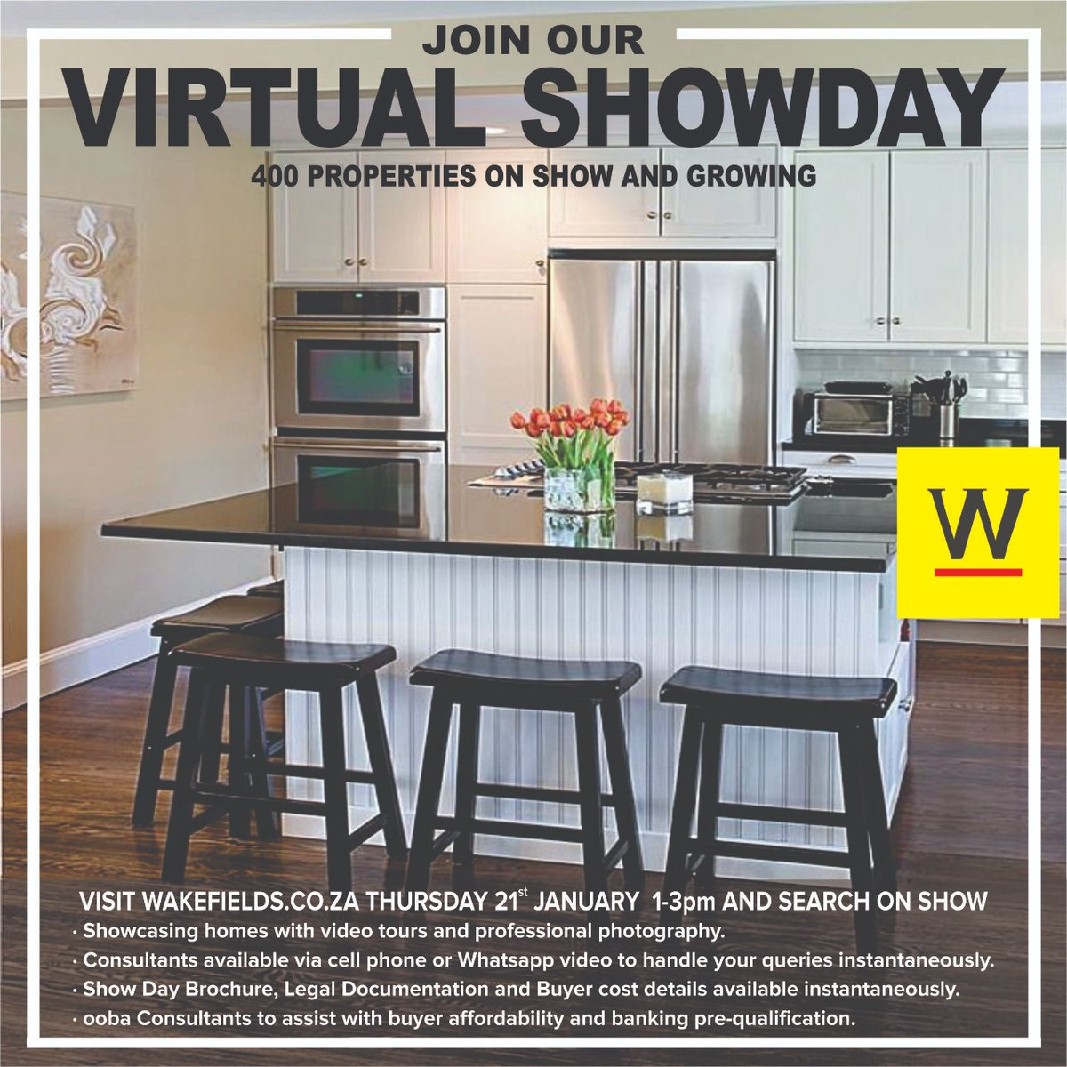 #WakefieldsWay #Wakefields_Westville #VirtualShow #Westville #KZNProperty #WeLoveKZN #thursdaymorning   Reminder of our Virtual Show Day on Thursday, 21 January 2021 between 1 and 3.