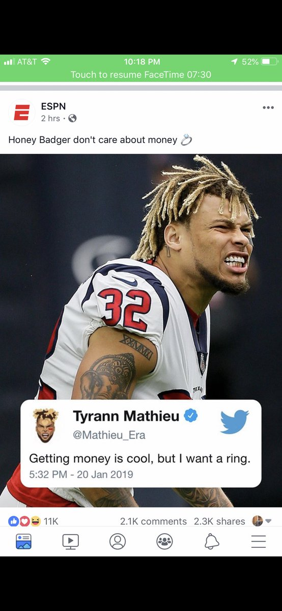 I screenshotted this because I knew when @Mathieu_Era said it, shit was about to get real. 👀#Chiefskingdom #RunItBack