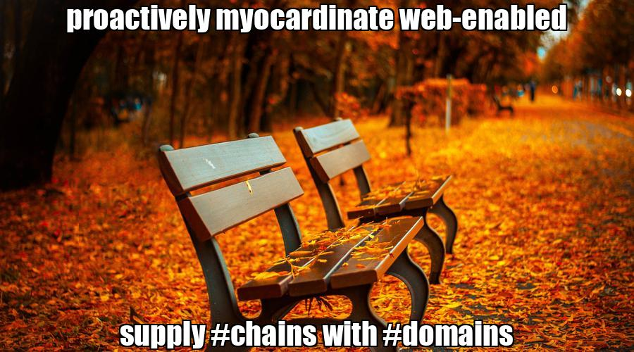 proactively myocardinate web-enabled supply #chains with #domains  💰 #biden #trump Buy #domain
