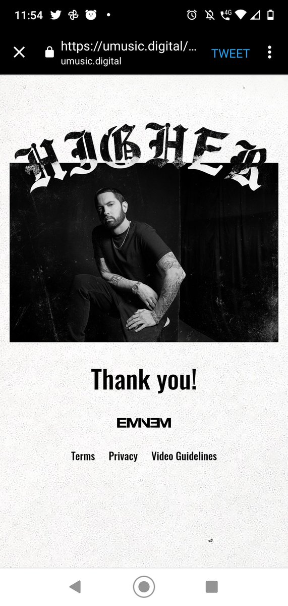 Ok... Done @Eminem You BETTER BE GRATEFUL THAT I SHOWED MY UGLY FACE FOR YOU #Higher #MarshallMathers #Eminem