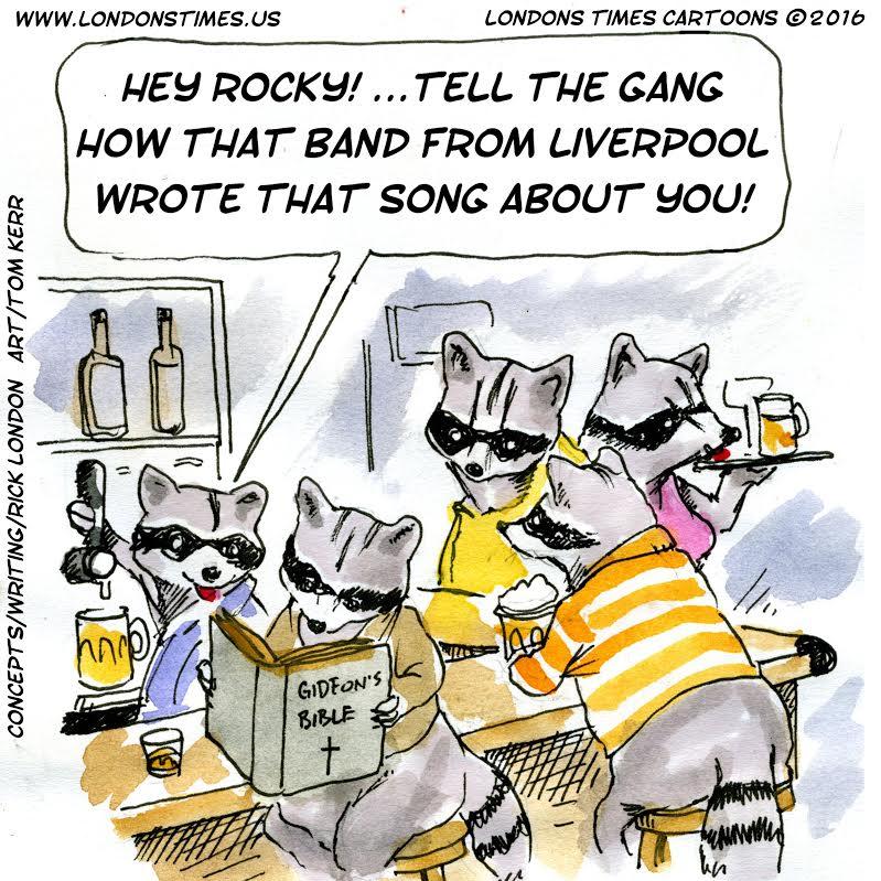 #RockyRaccoon #raccoon #raccoons #wildlife #beatles #thebeatles #wildlife #animals #humor #comics #cartoons #funny #offbeat #LTCartoons