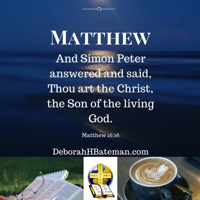 """YOU'RE INVITED TO #BIBLE STUDY """"Jesus is the Christ""""  #DailyBibleReading #BibleStudy #DeborahHBateman #Christian #Kindle #ebooks #books #Devotionals #Devotions #JesusChrist #Jesus #TheBookOfMatthew #JesusistheChrist @RecipeforLife1"""