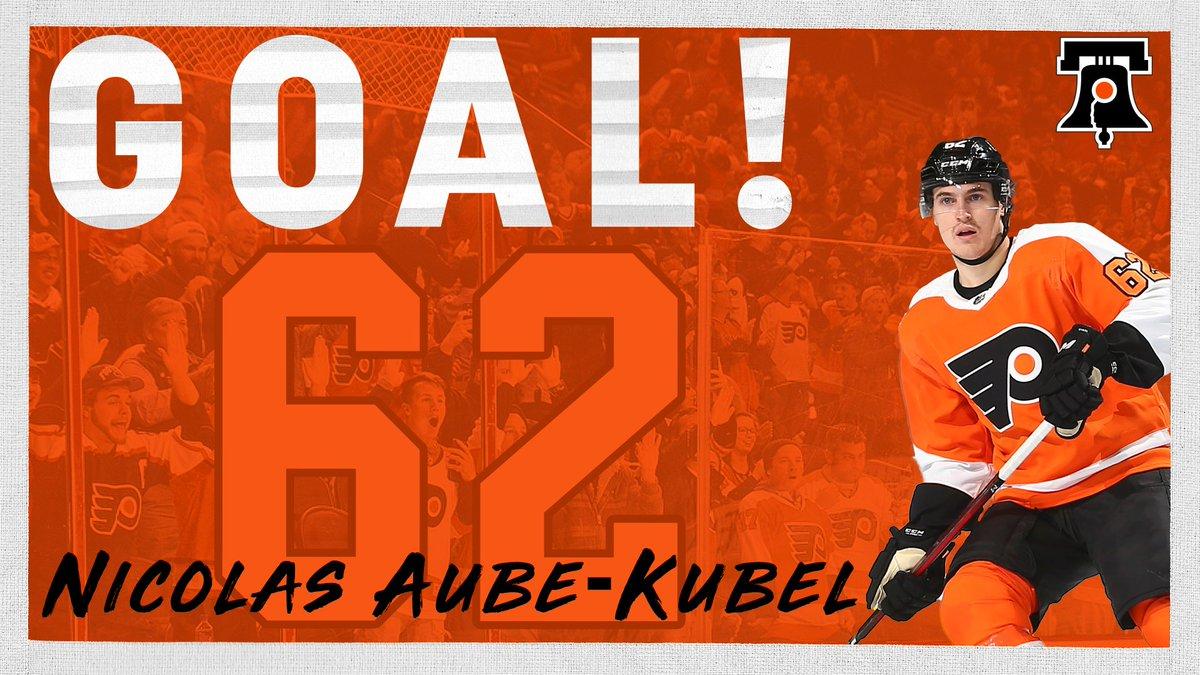 Nicolas Aube-Kubel scores with 2:05 left. No shutout. 5-1. #FlyersTalk