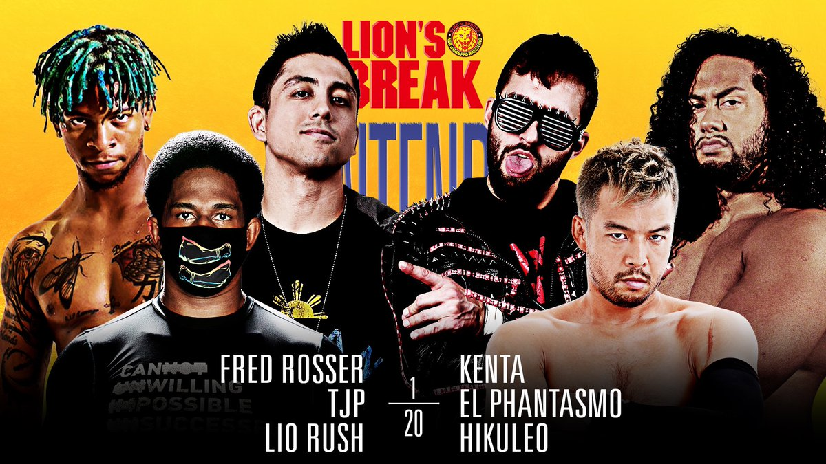 Ye-Ye!! Look at this awesome match fir next week #NJPWStrong my favorite wrestler @MegaTJP teaming up with 2 more of my favorites @realfredrosser & the debuting @TheLionelGreen !! Against the bullet club!! Let's Go!!