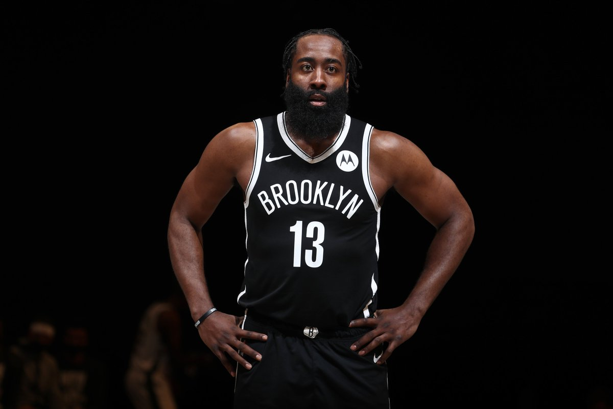 Harden's first two games in Brooklyn:  Saturday vs. Magic: 32 PTS, 12 REB, 14 AST, W  Tonight vs. Bucks: 34 PTS, 6 REB, 12 AST, W  Scary Hours. https://t.co/KWxxVfKl2G