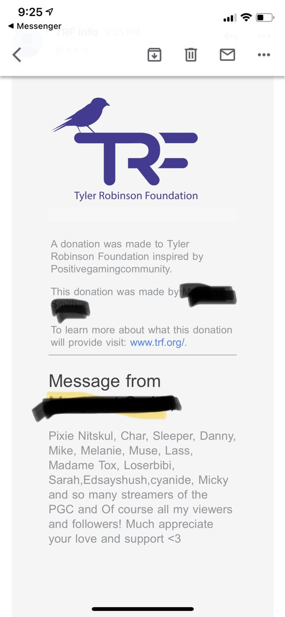 So amazed with this community that I have so I have made a donation inspired by these amazing people to @TRFdotORG . Again guys drop your twitch link and anyone on twitch show these streamers love! #twitchstreamers #slaycancerwithdragons