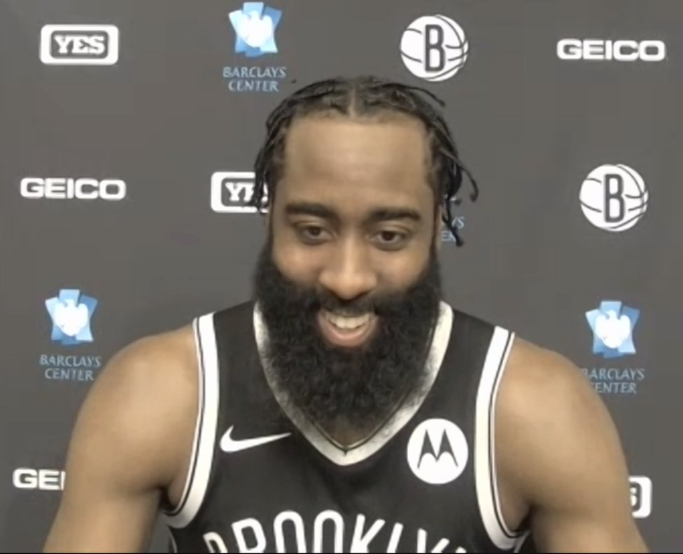 """James Harden on KD: """"I know what type of player Kevin Durant is. He's one of the best players to ever touch a basketball. It's God-given, 7-foot, and can basically do everything. For me, it's not trying to compete with that. It's allowing Kevin to be the best Kevin he can be."""" https://t.co/gRUiI2JazZ"""