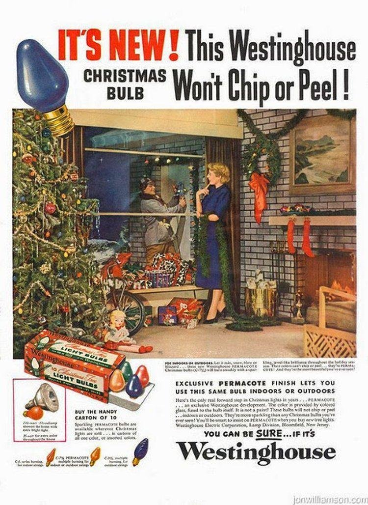 Title: Christmas Bulbs 1950's advertisingpics.tumblr.com/post/640708645…