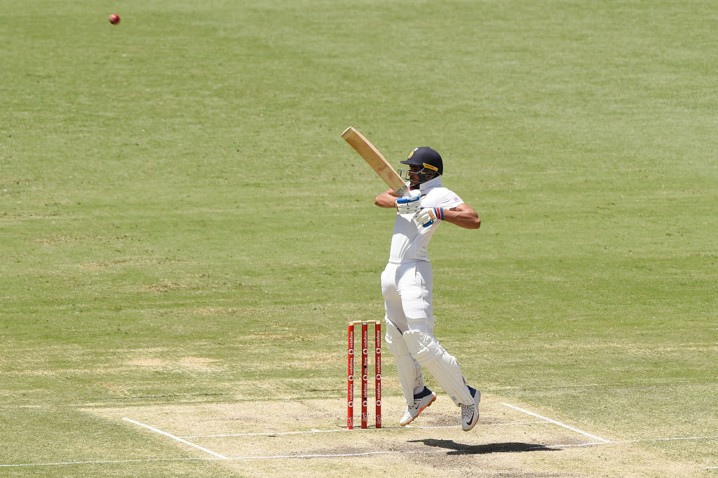 An outstanding knock from Shubman Gill comes to an end on 91. The elegant batsman misses out on a maiden ton. He batted for 146 balls, hit 8x4, 2x6 and shared a 114-run stand with Pujara. #TeamIndia #AUSvIND   Played @RealShubmanGill