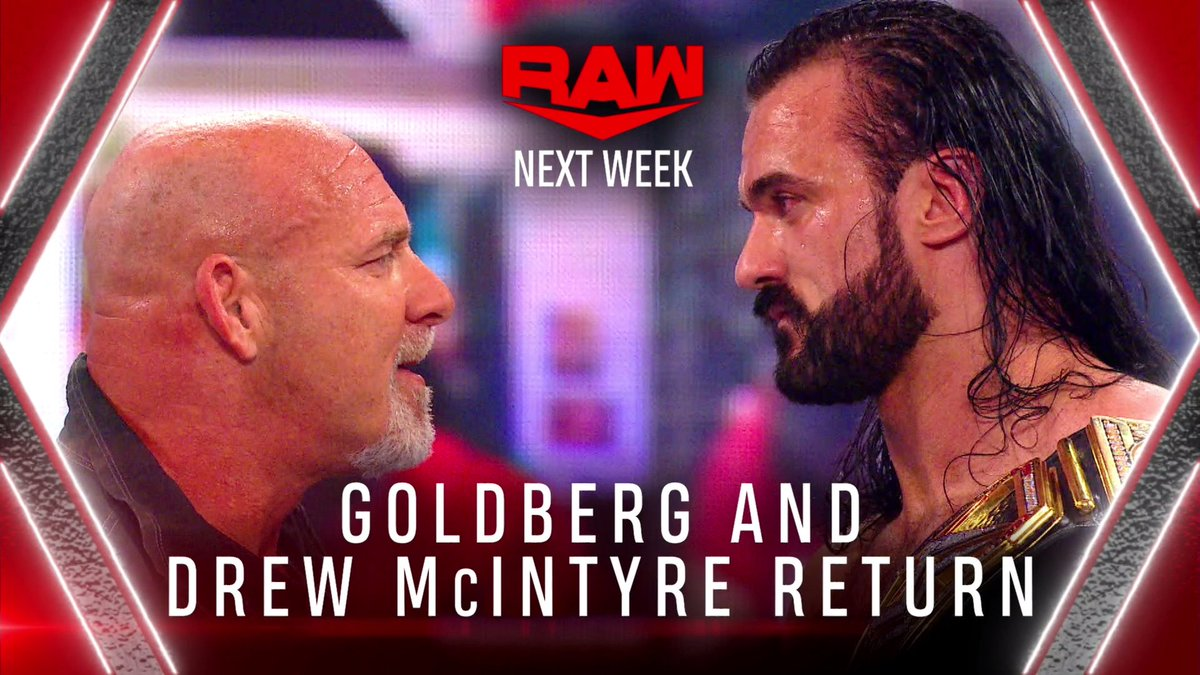 Drew McIntyre and Goldberg Announced For RAW Next Week