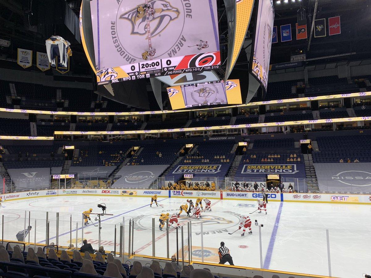 Limited attendance NHL hockey tonight. #preds #Smashville