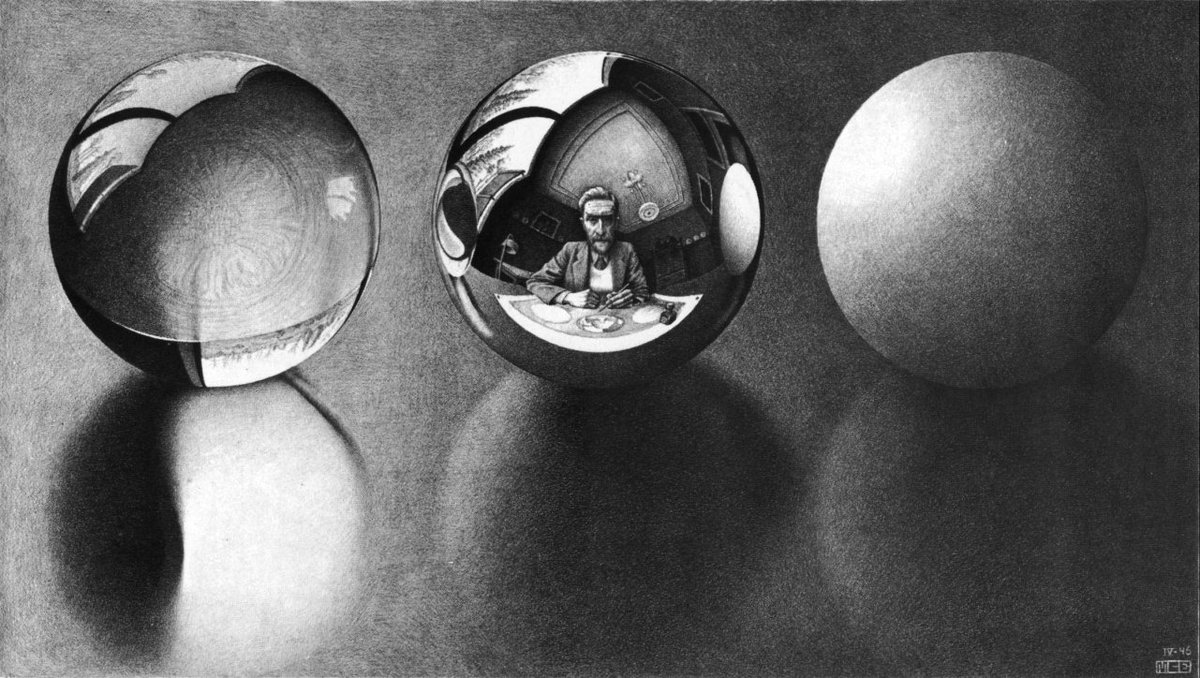 Three Spheres II, 1946 #mcescher #escher