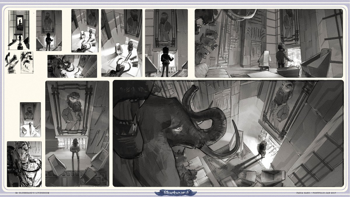 A couple more from the same series. Those b/w keyframes are so nice.