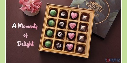 Make any occasion or celebration special with this 15 pieces chocolate box from in the shape of hearts, squares, circulars, and balls in different colors makes them mouth watering    #tokenz #craftingjoy #chocolates #gifts #celebration