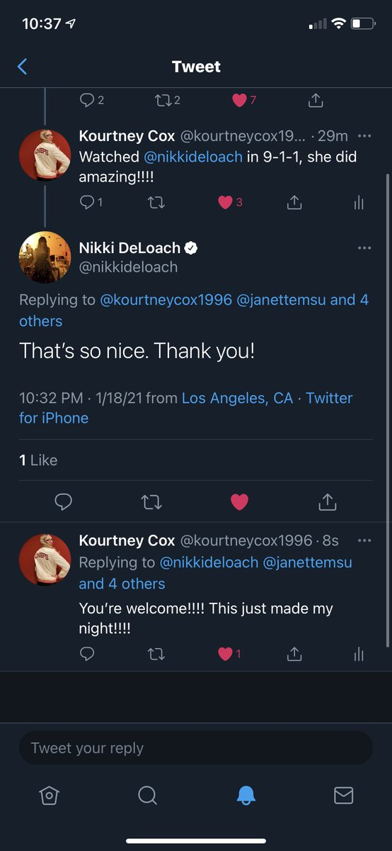Made my night tonight with getting replied to by one of the leading @hallmarkchannel ladies who was on @911onFOX tonight!!! Thank you @nikkideloach #911onFOX #Hallmarkies