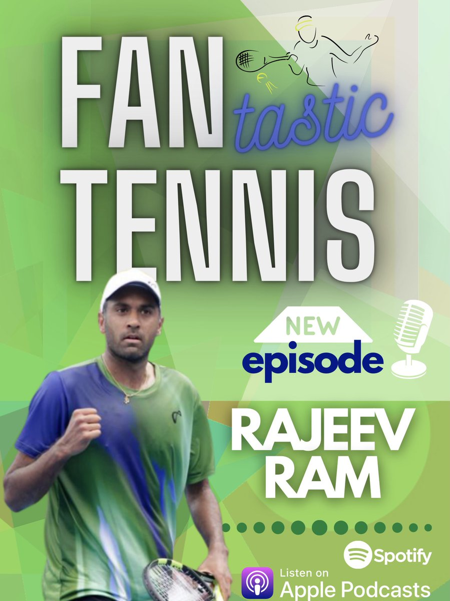 I think you'll come to find out that our defending Australian Open men's doubles champion is pretty fantastic both on & off the court. New episode of FANTASTIC TENNIS is up 🎙 🏆Get to know, Rajeev Ram.