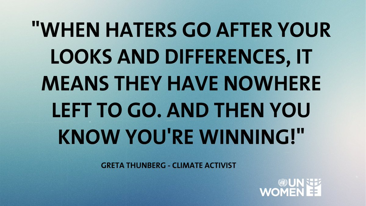 The climate activist has made it clear that she doesn't want anyone — including herself — to waste their time worrying about bullies. So stand up for what you believe in and continue fighting for what is right and just. #Activism