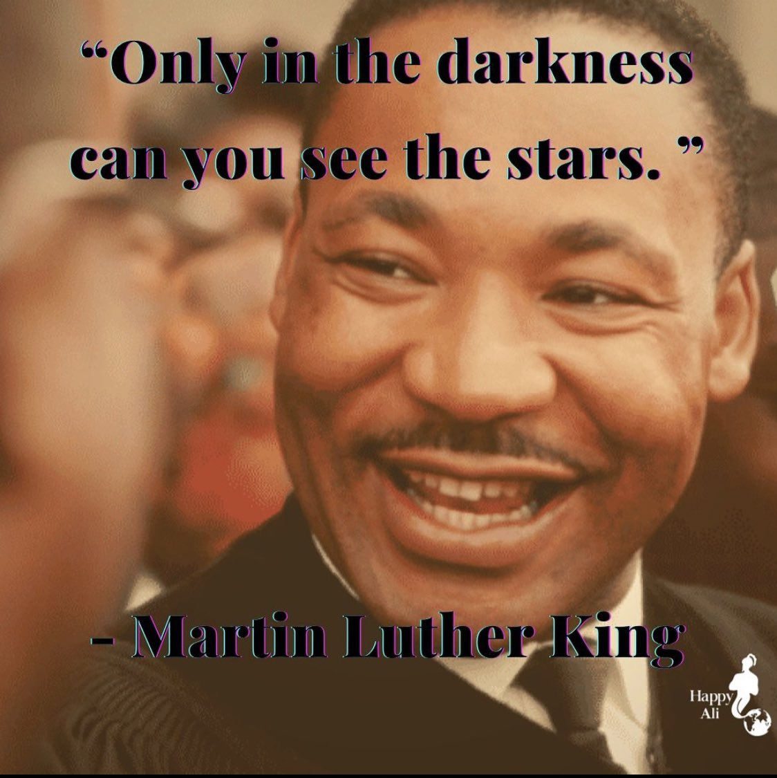 """""""Only in the darkness can you see the stars."""" MLK Jr.  #mkl #martinlutherking #martinluther #happybirthday #birthday #memory #blm #blacklives #blackrights #humanrights #usa #us #blackleader #leader #equalrights"""