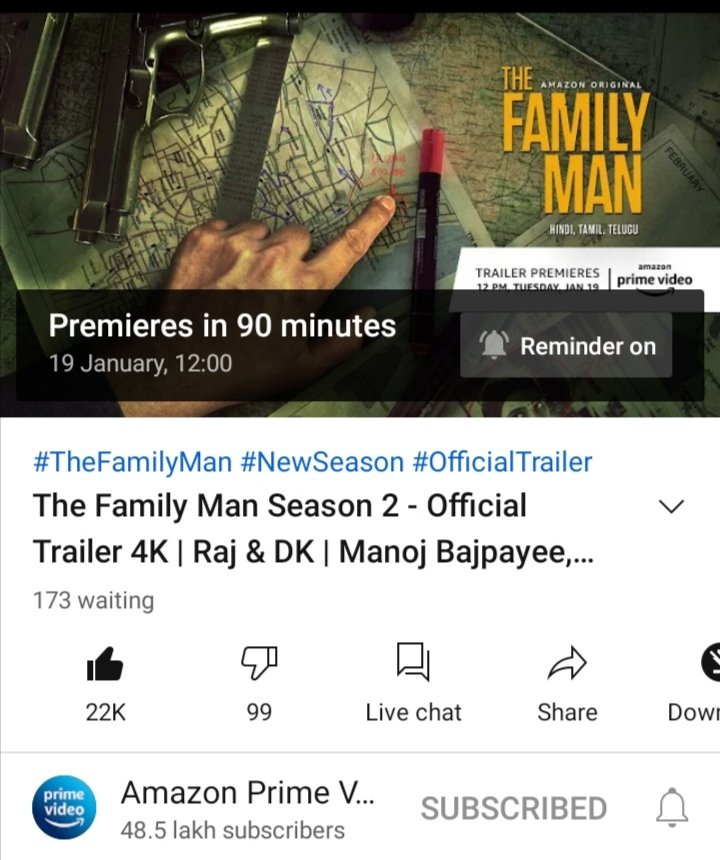 Finally on #AmazonPrimeVideo the trailor of #TheFamilyMan2 is out few hours left awesome performance by #manojbajpayee #thursdaymorning #TheFamilyManSeason2