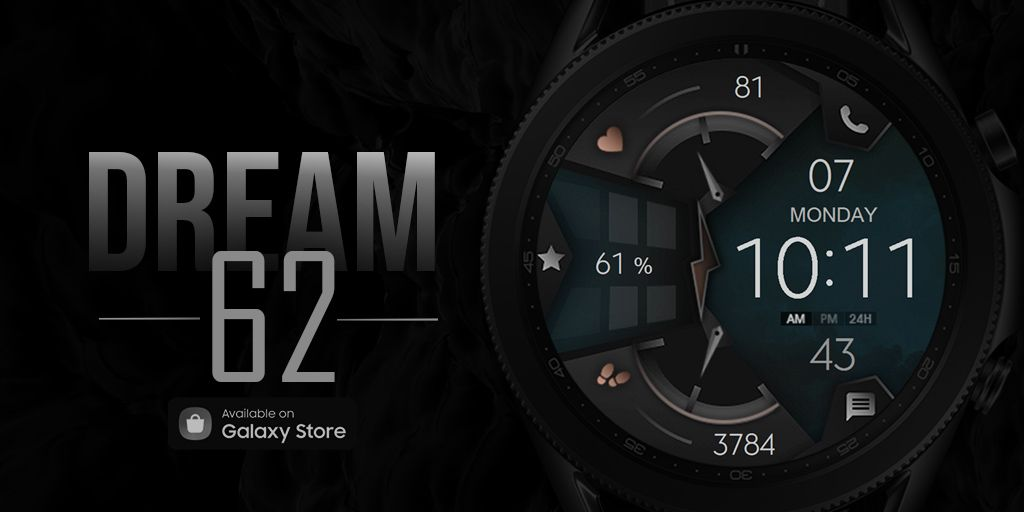 Dream 62 - Watch Face  Available on Galaxy Store :    #BeASamsungDev #Watch #Futuristic #Neon #Wearable #GalaxyWatch #GalaxyWatch3 #GalaxyWatchActive #GalaxyActive #watchface #GalaxyActive2 @samsung_dev