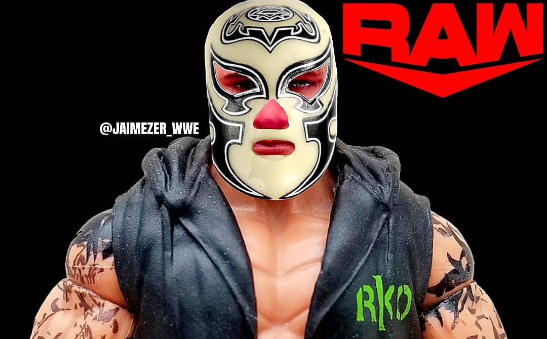 Randy Orton wears a mask after suffering burns from the fireball last week! #WWERAW #RandyOrton #WWE