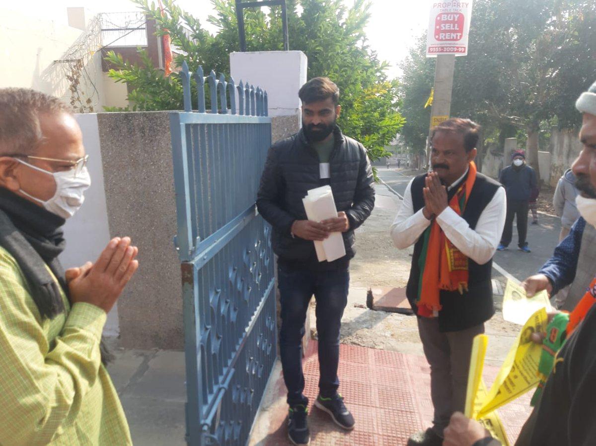 आज सुबह शात्री नगर क्षेत्र में जनसंपर्क कर जनता का आशिर्वाद लिया। Please vote & Support #वार्ड_66 #पार्षद #अजमेर_नगर_निगम  #नीरज_जैन  #भाजपा #BJP #rajasthan #ajmer @neeraj_jain75 @BJP4Rajasthan