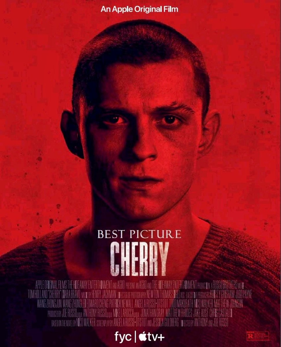 Upcoming Film 🎬  Cherry (2021) An Army medic suffering from post-traumatic stress disorder becomes a serial bank robber after an addiction to drugs puts him in debt.  #Cherry #TomHolland #JoeRusso #AnthonyRusso #russobrothers #CinemaForensic #cinema