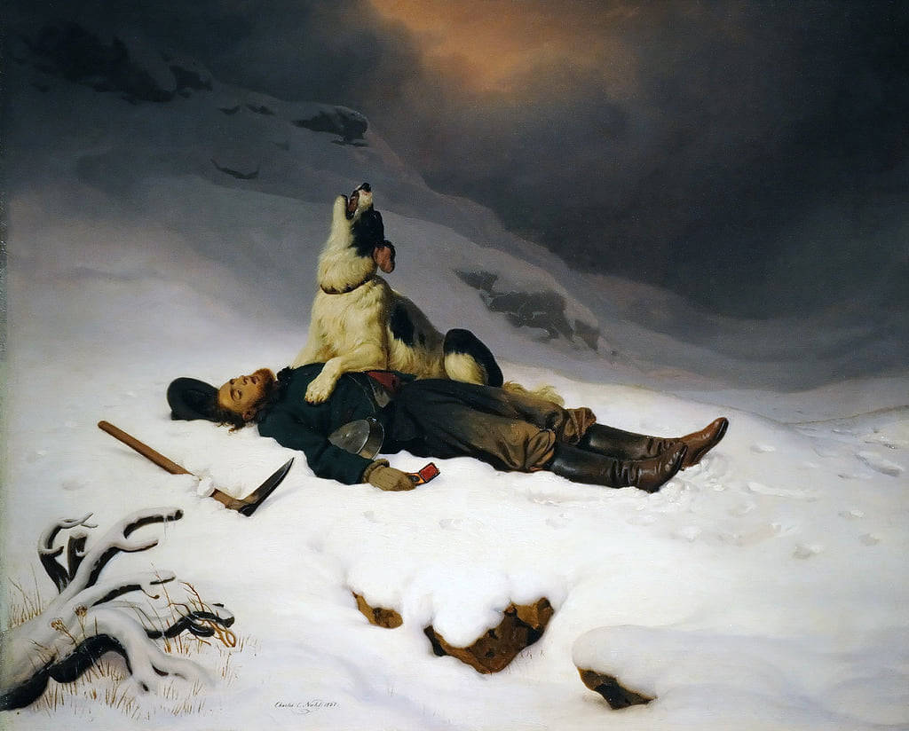 The Dead Miner By Charles Christian Nahl #fantasyart #dogs #sad #Fantastico