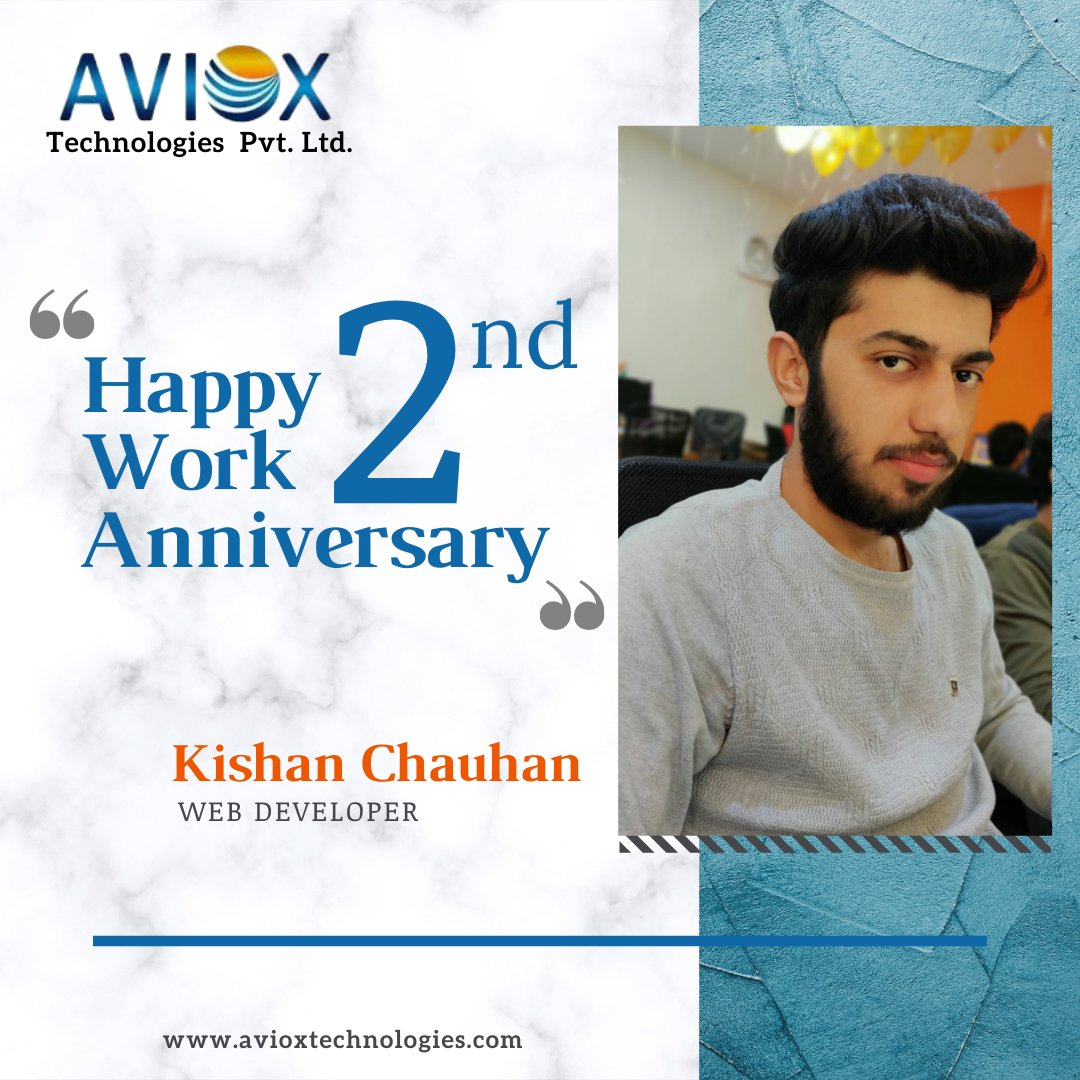 We are glad to have members like you and we would like to thank you for everything you've done so far for our organization and for the team.   Wish you a very #Happy #WorkAnniversary! Vishal Sharma and Kishan Chauhan 🎉🎉🎈  #HappyAnniversary #2ndyear #anniversarygift