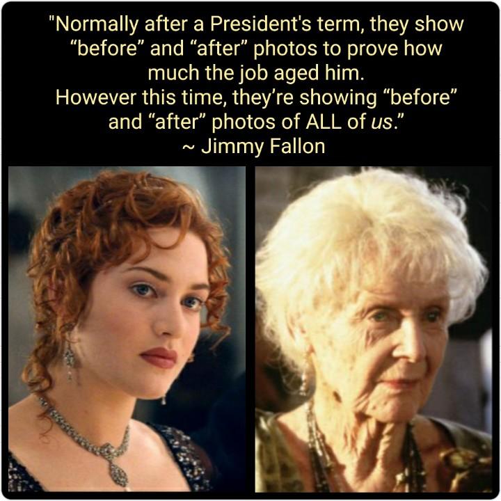 @FallonTonight Thank you @jimmyfallon #FallonMono #FallonTonight 🇺🇸💙👍😷👍💙🇺🇸 1,461 days that aged us 80+ yrs. Looking forward to nap time, Wednesday night... & Thursday, Friday.. etc etc..
