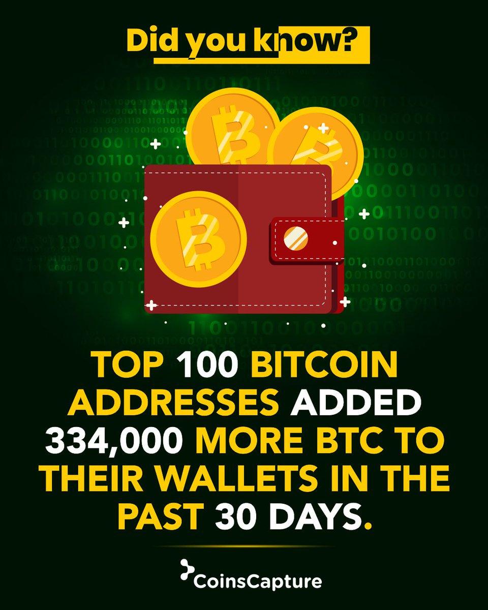 top 100 indirizzi bitcoin
