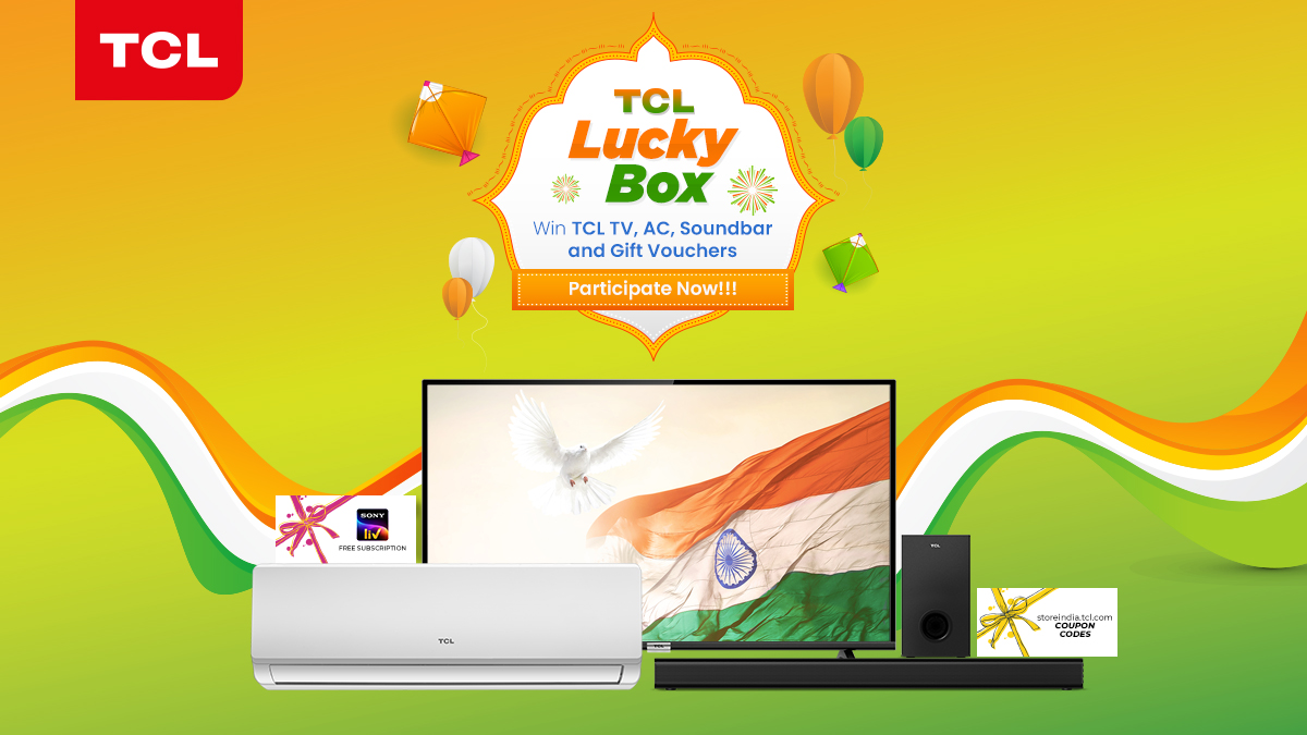 Are you ready to try your luck with the 🎁#TCLLuckyBox 🎁?  Exciting gifts awaits you. Register now to become a TCL Member OR download TCL Home App and get a chance to win exclusive prizes from #TCL.  Participate Here: