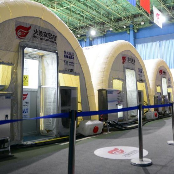 In pics: Nucleic acid test lab Fire Eye improves #Shijiazhuang's testing capability.  On Jan. 8, Huoyan, or Fire Eye, was built in only 10 hours and put into use in 21 hours in Shijiazhuang. It can test up to 1 million samples a day.