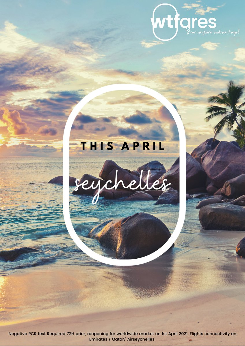 Super excited, #seychelles is opening up for all!