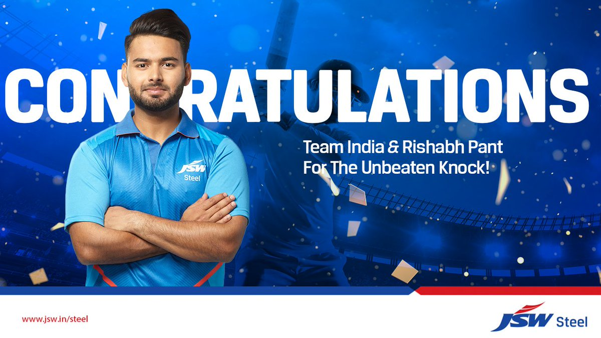 A proud and historic moment! This will be remembered in the history of Indian cricket forever and thanks to @RishabhPant17's Mazboot Pakkad that led to a stunning victory of Team India, breaching the fortress Gabba after 32 years!  #NervesOfSteel