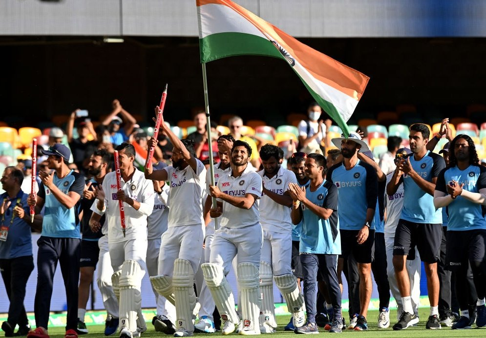 What an amazing victory! ✌️ Historic one for #TeamIndia! 🇮🇳  Congratulations to #IndianCricketTeam for winning the 4th test match & entire series! 💪  From 36 all-out to winning the series: amazing display of #NeverSayDie attitude. #Respect 🙏  #INDvsAUS #IndiavsAustralia