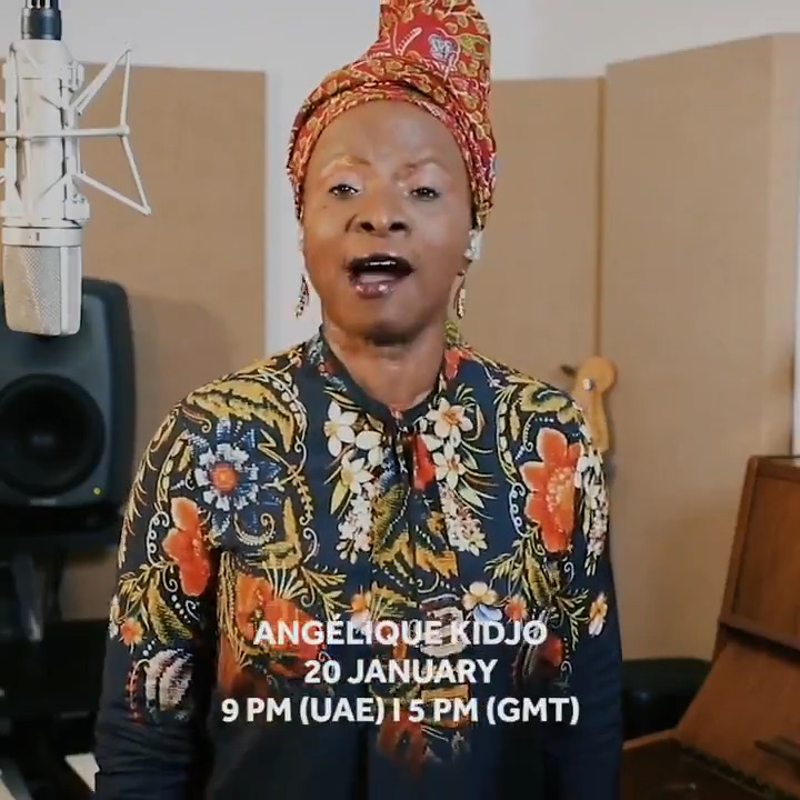 Celebrate the diverse musical influences of multiple Grammy award-winner @angeliquekidjo in an online performance that you can enjoy at home.   Facebook:  YouTube:   #InAbudhabi #angeliquekidjo