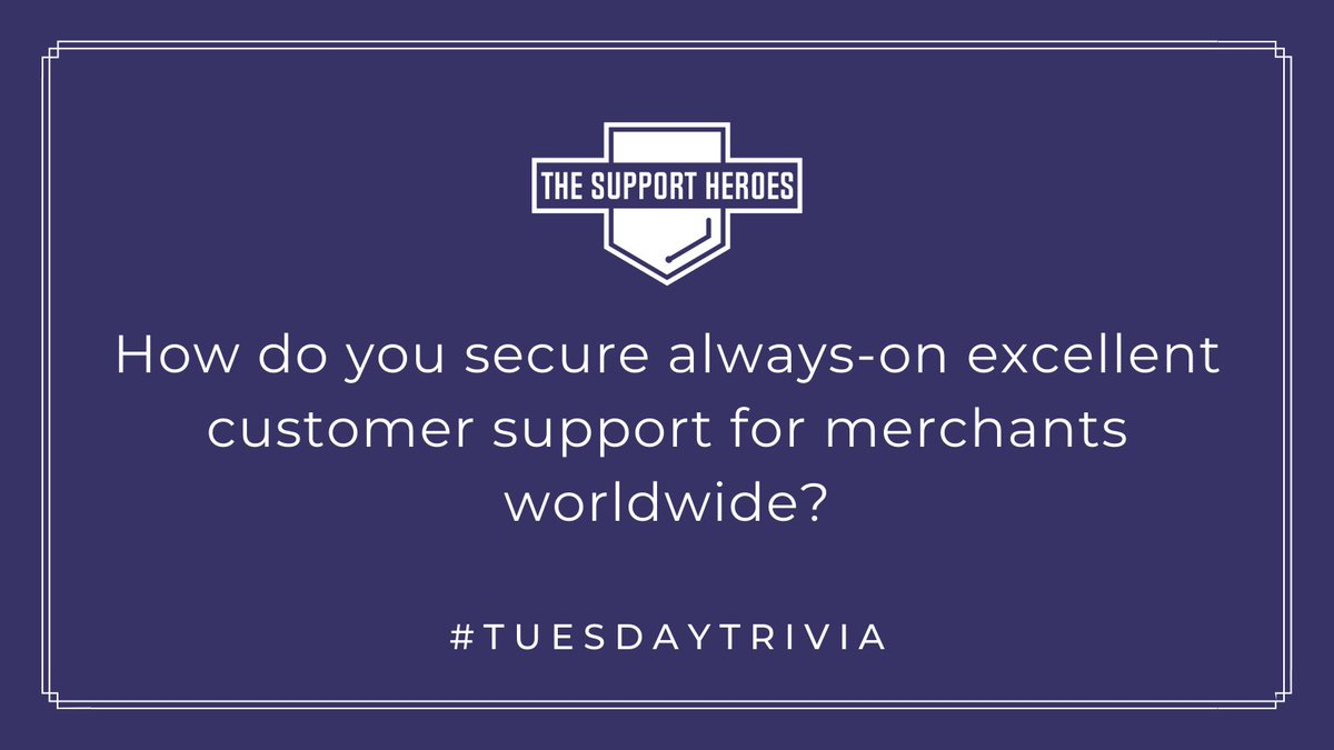 #TuesdayTrivia  Brief answer: The Support Heroes.  The ease of getting on board with our team, merged with the exceptional customer support we deliver, makes us the most reliable option for Shopify app developers.🦸♂️🦸♀️  #tuesdaymotivations #tuesdayvibe #Shopify #ShopifyPartners