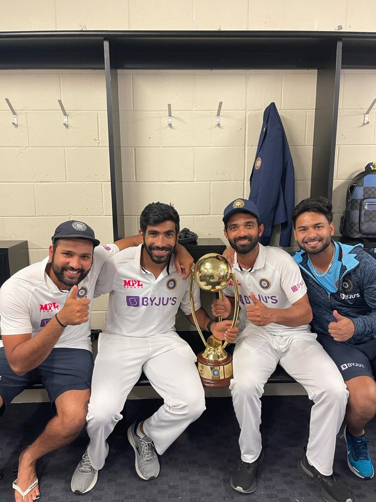 Happy endings!   #INDvsAUS #TeamIndia